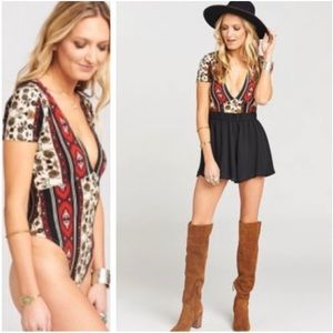 🆕Show Me Your MuMu Anderson Boho Aztec Body Suit